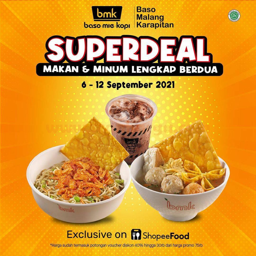 Promo BMK Baso Mie Kopi SUPER DEAL - Makan Berdua cuma Rp.20.000