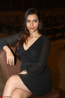 Kyra Dutta in black At Rogue Movie Audio Launch ~  007.JPG