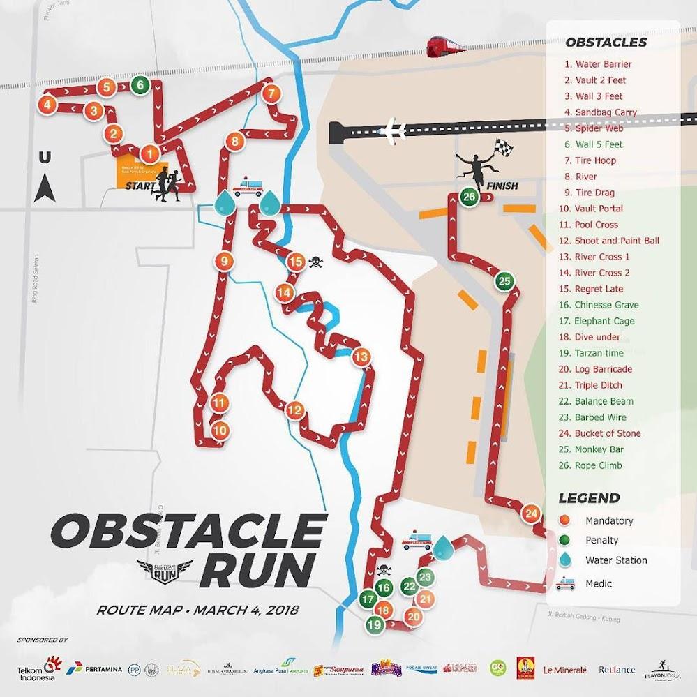 Adisutjipto Urban Obstacle Run Route 2018 10km
