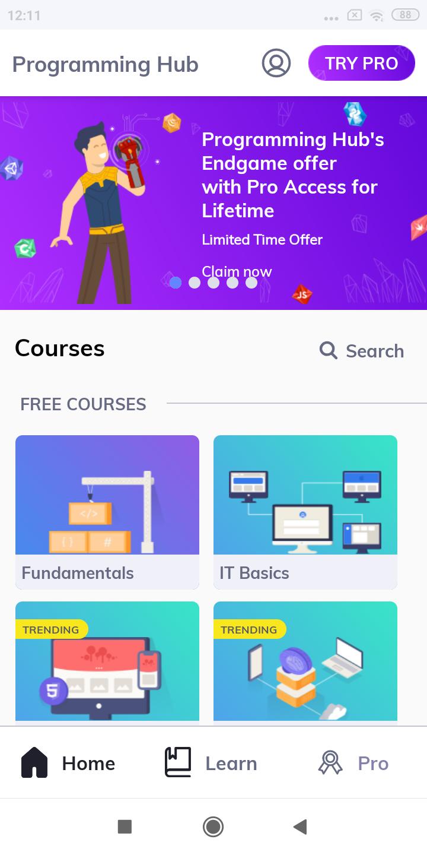 programming hub app