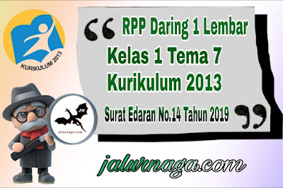 RPP Daring Kelas 1 Tema 7