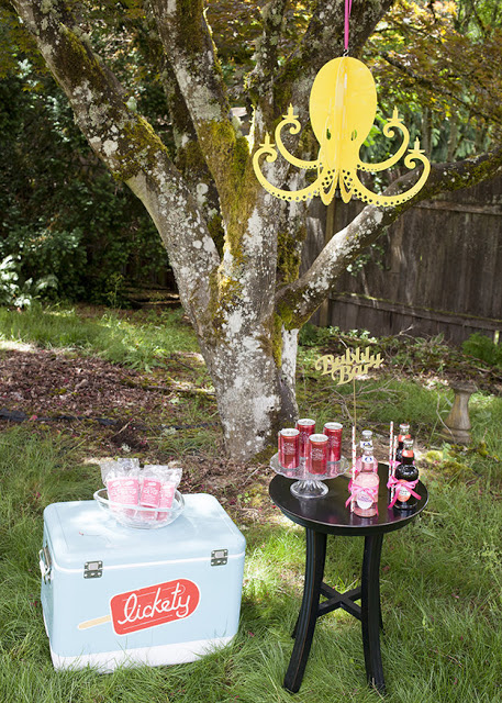 Drinks station at wedding reception styled by Fizzy Party