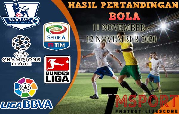 HASIL PERTANDINGAN BOLA 11 – 12 NOVEMBER 2020