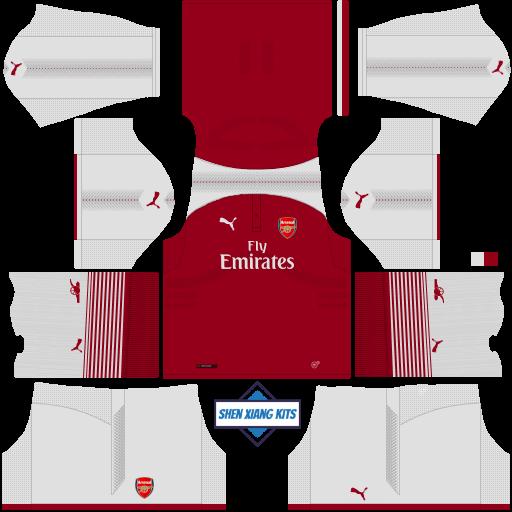 new arrival 22d08 edca3 Arsenal Kits 2018 DLS/FTS