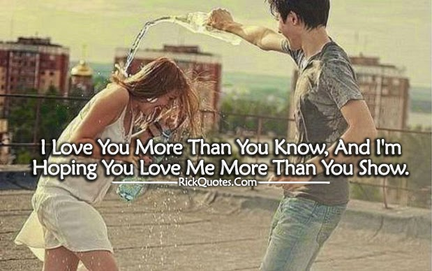 Love Me More Than You Show