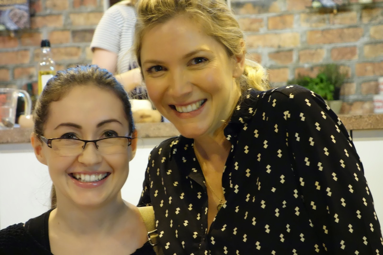 Me and Lisa Faulkner at the Good Food Show Winter