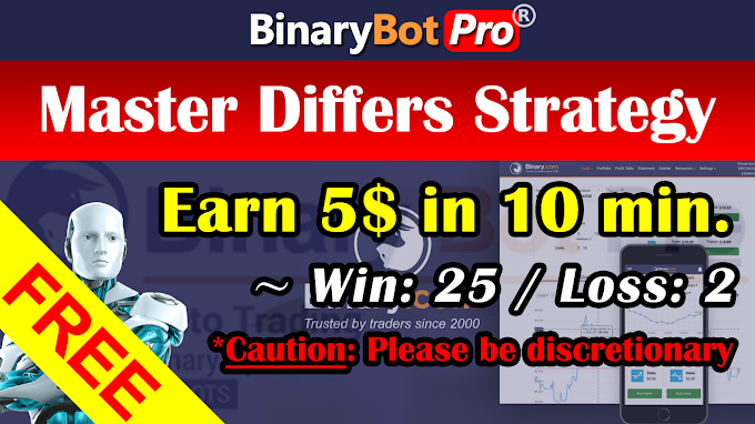 Master Differs Strategy (10-Sep-2020) | Binary Bot | Free Download