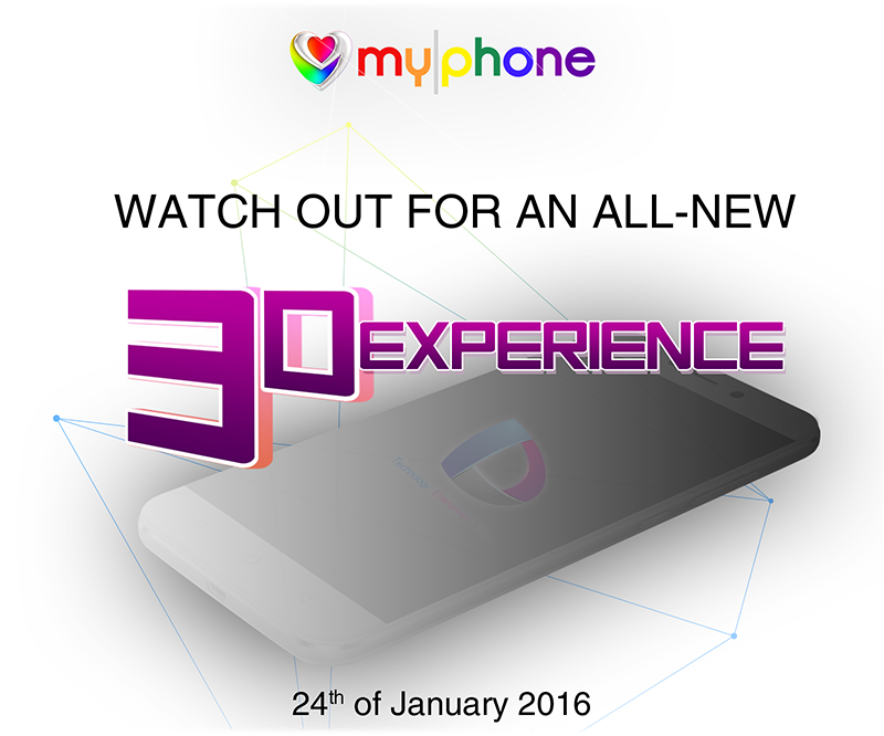 MyPhone Will Reveal A New 3D Smartphone This Jan 24!