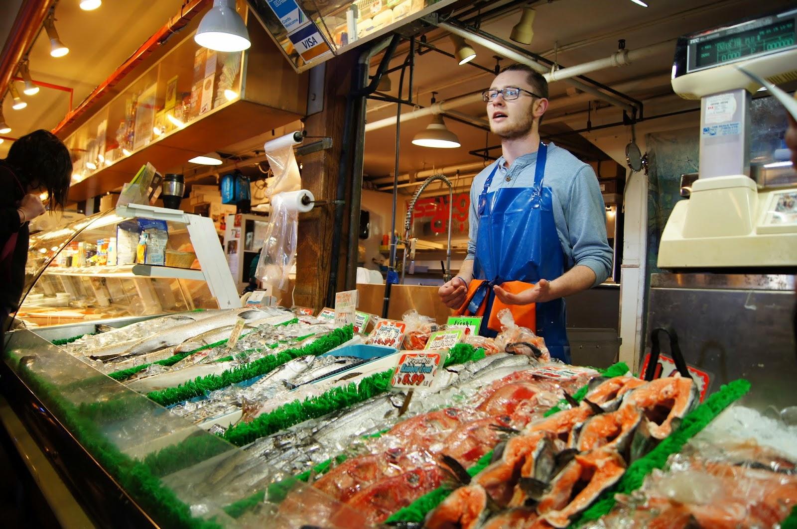 Image result for image granville island market seafood