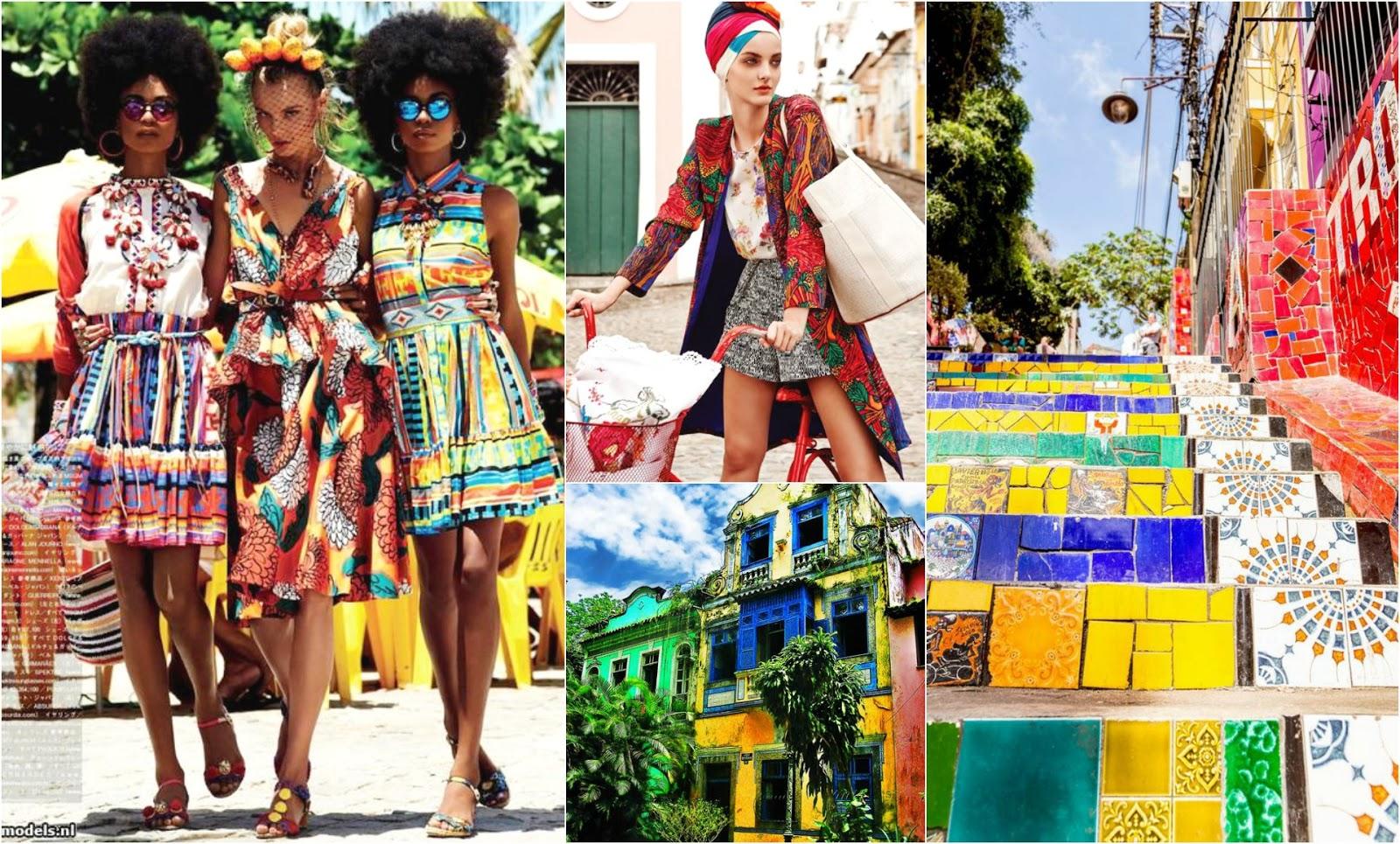 Brazil Inspired Fashion Tropical Prints Summer Rio De Janeiro Architecture