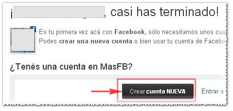 Crear cuenta en MasFB