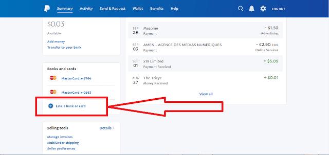 ربط حساب الباي بال بفيزا افتراضية مشحونة مجانا