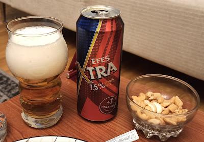Efes Xtra (Extra) Bira Değerlendirmesi - Yüksek Alkollü Türk Birası (Strong Beer)