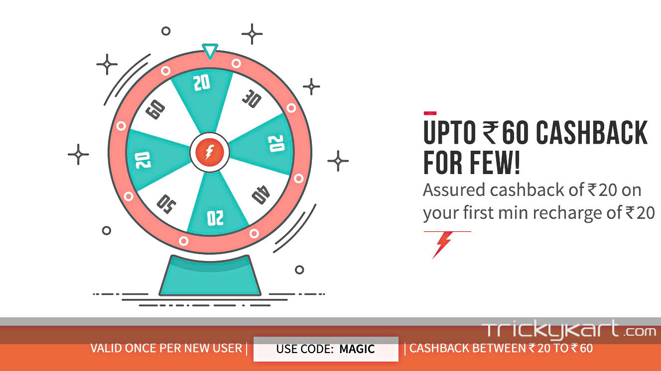 Freecharge Deal : Get Up To Rs 60 Cashback On First Time Min Rs 20 Recharge