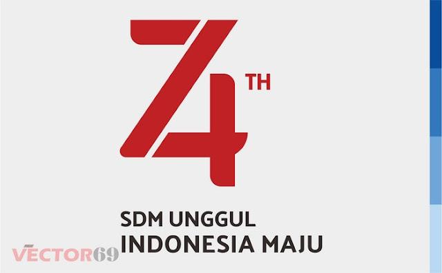 Logo HUT RI ke 74 Tahun 2019 SDM Unggul Indonesia Maju - Download Vector File EPS (Encapsulated PostScript)