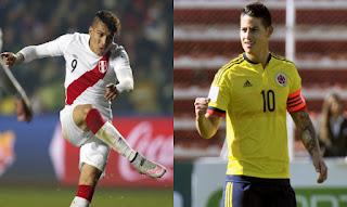 Perú vs Colombia en Copa América Centenario