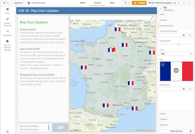 Die französische Flagge als Bild Symbol auf der Punktebene
