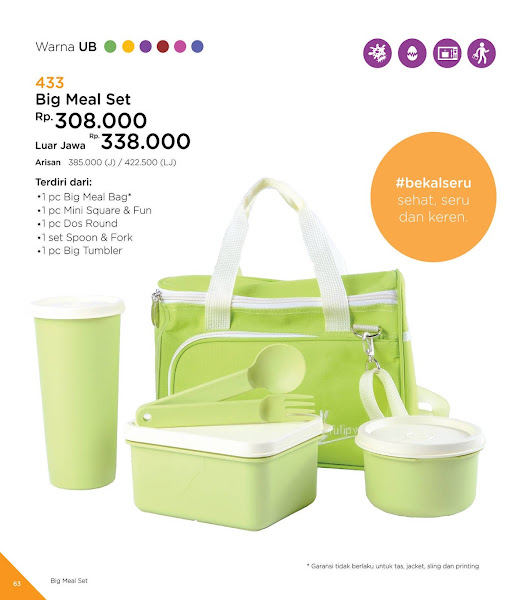 Big Meal Set, Katalog Tulipware 2019