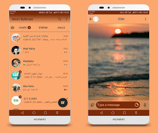 Sunset Theme For YOWhatsApp & Fouad WhatsApp By Ameen