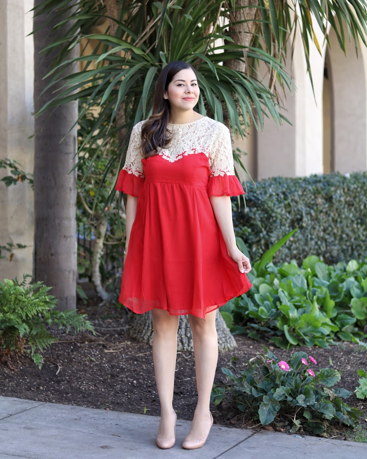 Red cocktail dress, how to wear a red dress, what to wear to a wedding