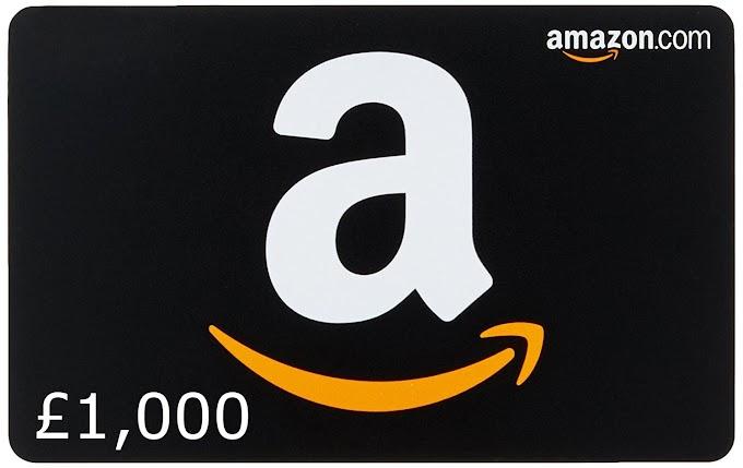Sorteio de um Amazon Gift Card £1.000