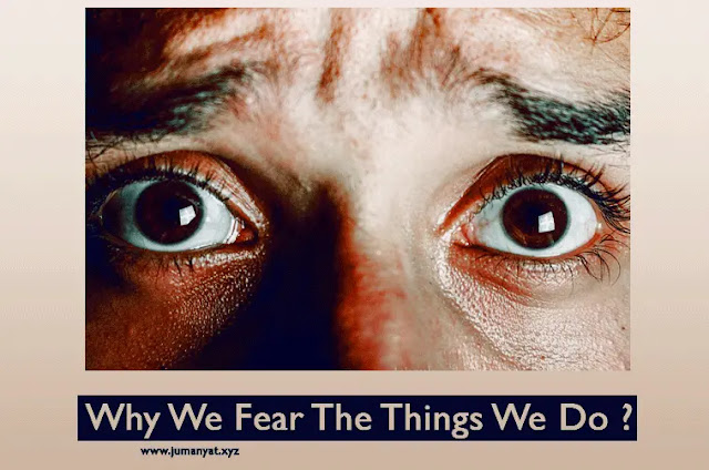 Why We Fear The Things We Do ?