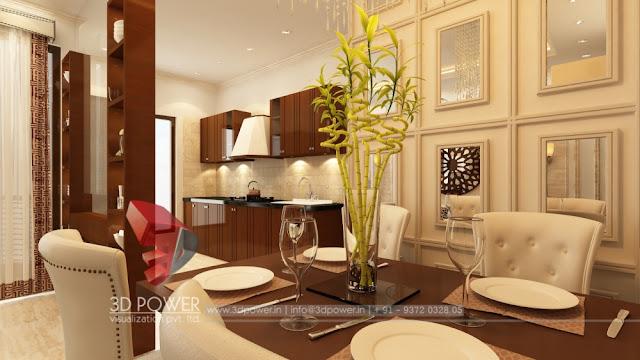 Kitchen Interior Rendering Designs