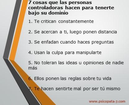 7 Cosas que las personas controladoras hacen