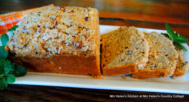 Crumble Top Sweet Potato Bread at Miz Helens Country Cottage