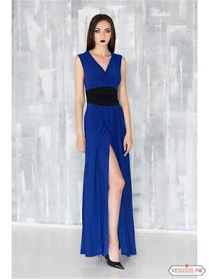 Vestido azul de noche