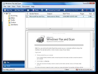 विंडोज फ़ैक्स और स्कैन (Windows Fax and Scan)