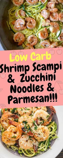 Shrimp Scampi & Zucchini Noodles & Parmesan