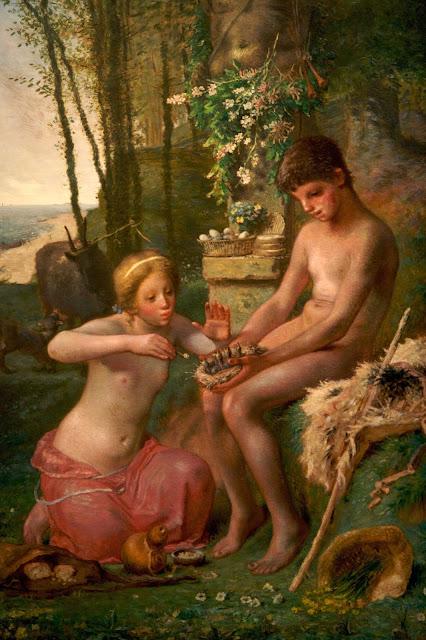 Жан Франсуа Милле - Весна (Дафнис и Хлоя). 1865