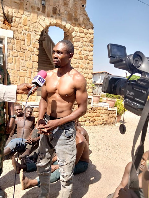33 Speculated Cultists cum Armed Burglars Arrested As Nigerian Armed force Bursts The Criminal's Refuge In Plateau State (Photos)