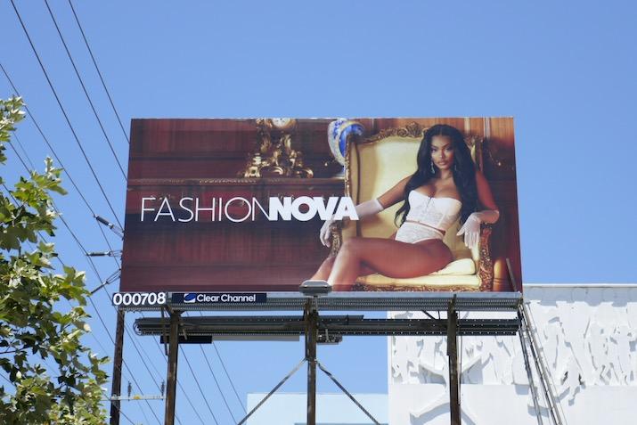 Fashion Nova lingerie 2020 billboard