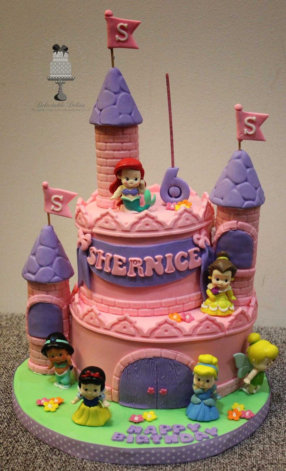 Delectable Delites Baby Disney Princess Castle Cake