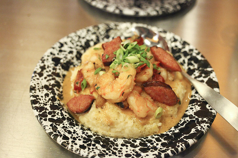 Local Wild Caught Shrimp & Grits from Gilbert's Social