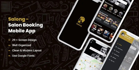 Best Salon Booking Mobile App UI Kit