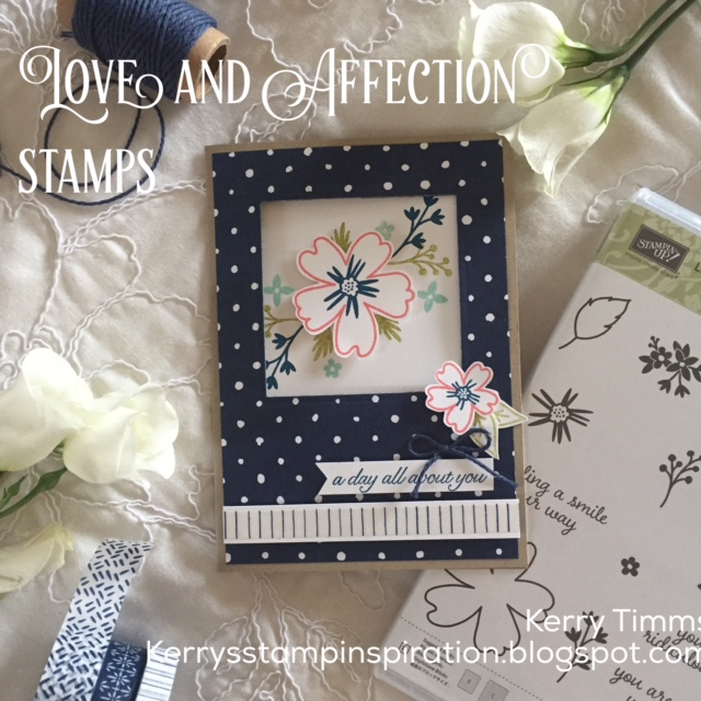 stampin up love and affection stamps handmade card making class paper craft creative create scrapbooking hobby female birthday flowers stamps ink wash tape kit demonstrator