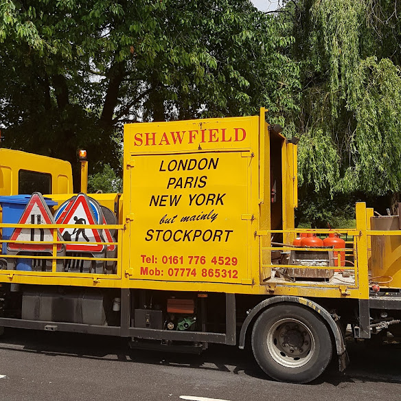 Shawfield Line Marking spotted in Cheadle Hulme, Stockport