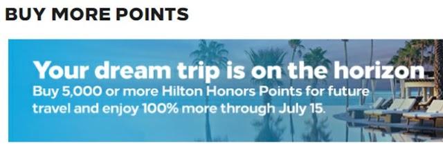 Hilton Buy Points希爾頓新一期買分促銷~可享100%Bonus,以及其他積分獎勵疊加活動(07/15前)