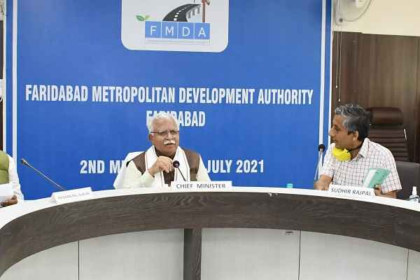 fmda-meeting-manohar-lal-haryana-cm-promisses-for-faridabad