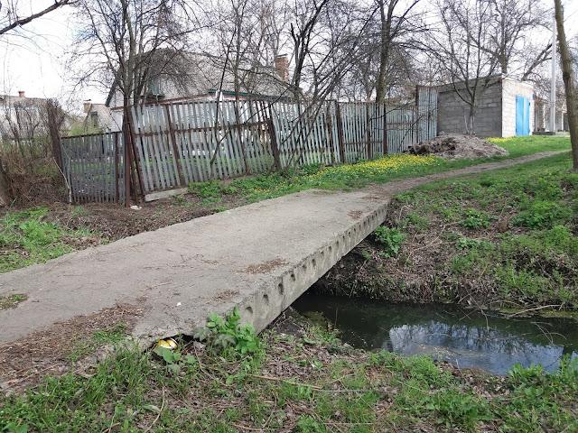Пішохідний міст через Сухий Кагамлик по провулку Кузьми Дерев'янка (Кременчук)