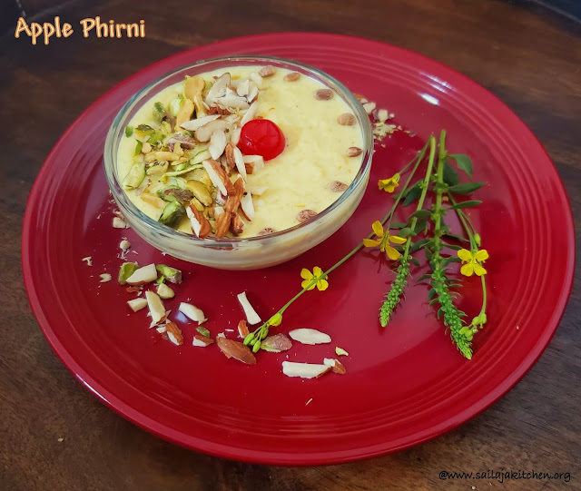 images of Apple Phirni Recipe / Apple Firni  Recipe / Creamy Apple Phirni Recipe / Apple Rice Pudding Recipe