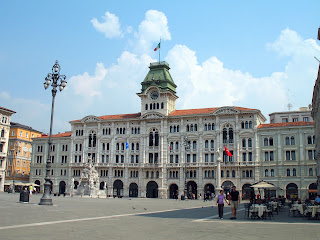 The Piazza Unità d'Italia in Trieste