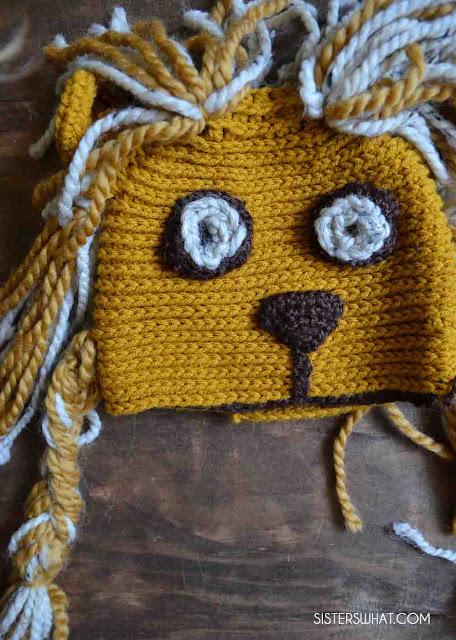 Luna Lovegood lion hat crochet pattern