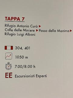 Seventh leg of Sentiero delle Orobie - Tito Terzi Exhibit