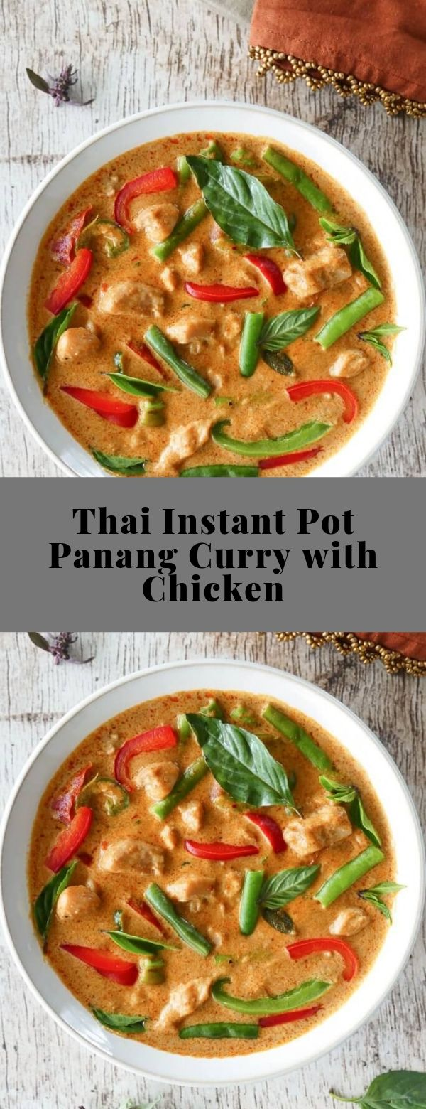 Thai Instant Pot Panang Curry with Chicken #chicken #instantpot #thaicurry