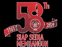 Logo HUT Pramuka ke 58 tahun 2019 png