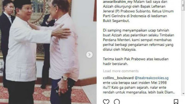 Prabowo Temui Anwar Ibrahim di Malaysia, Bicarakan Apa